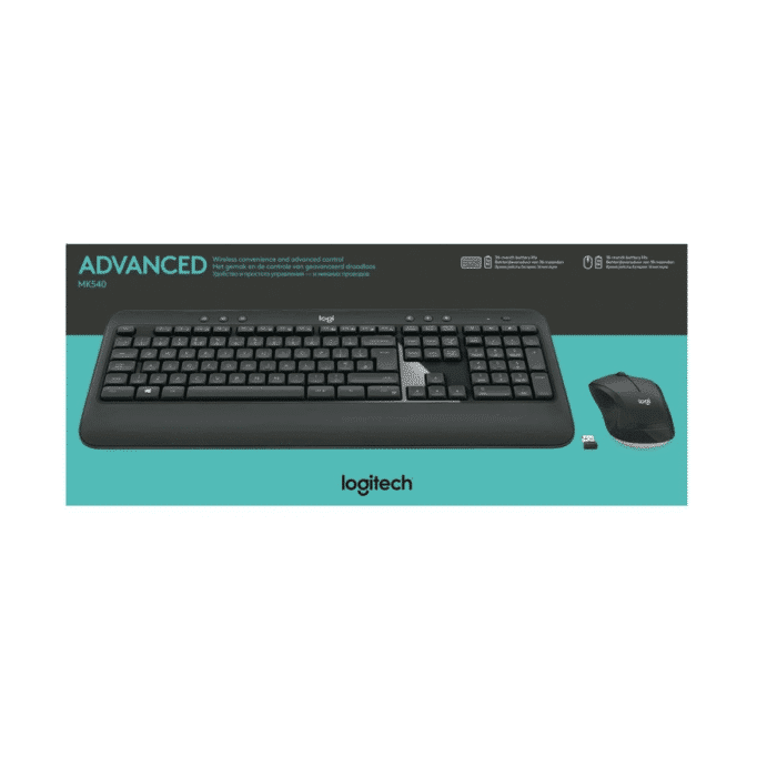 Logitech MK540 Advanced Tastatur & mus Trådløs - Nordisk Layout
